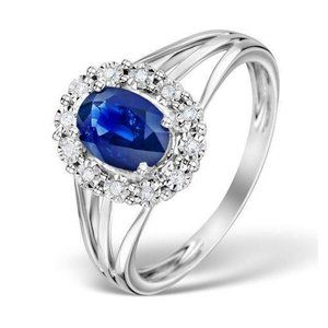 Solitaire with accent 2.40 ct CEYLON sapphire with
